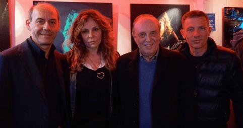 Da sx Claudio Lattanzi, Roberta Cima, Dario Argento e Giuliano Graziani