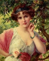 EMILE VERNON (1872-1919) - A summer rose