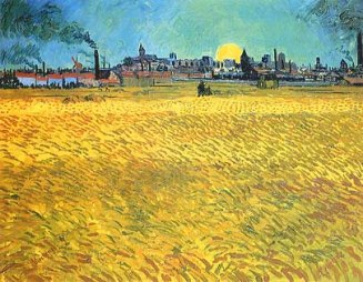 Vincent van Gogh - Sommerabend bei Arles (Sera d'estate a Arles)
