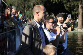 Daniele Frongia e Stefano Bernardini al via