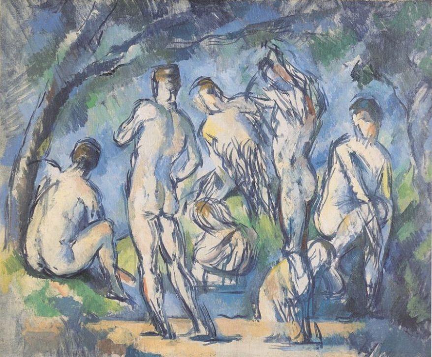 """Paul Cezanne_s """"Seven Bathers"""". Eros e sesso nell'arte"""