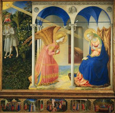 The Annunciation by Fra Angelico (1438-45)