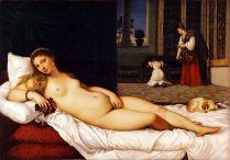 """Titian_s """"Venus of Urbino"""". eros e sesso nell'arte"""