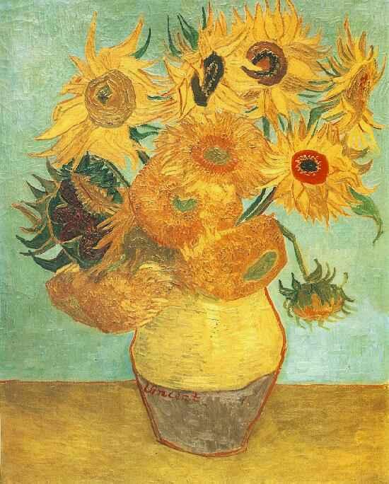 Vincent van Gogh - Still Life Vase with Twelve Sunflowers, 1888
