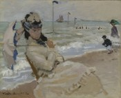 Claude Monet, Camille on the Beach at Trouville (1870)