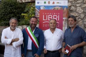Da sx Andrea Zagami, Luigi Bellumori, Nicola Gratteri, Andrea Purgatori