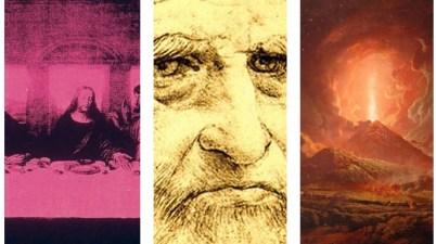 Warhol, Leonardo Da Vinci, Pompei e Santorini