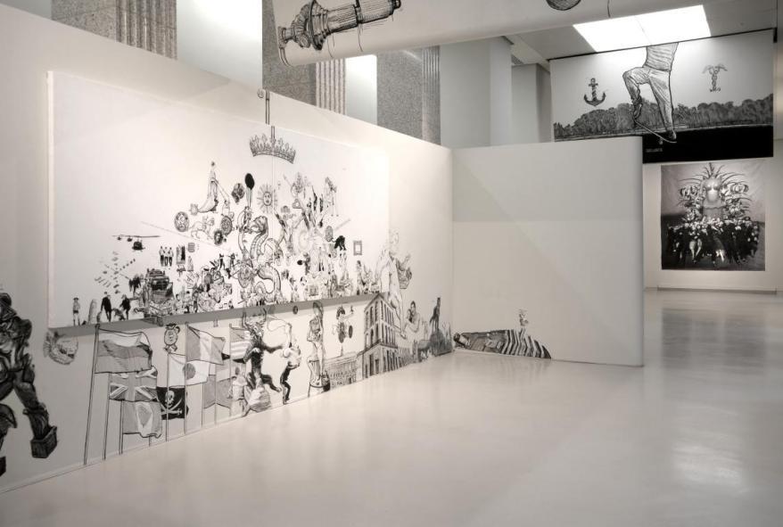 OZMO 'Il preGiudizio Universale, Mostra Personale al museo del 900 inst view_2012 ph. Roberto Mascaroni