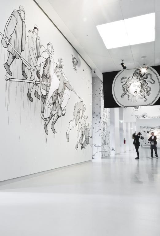 OZMO 'Il preGiudizio Universale, Mostra Personale al museo del 900 inst view_2012 ph. paolo sala b