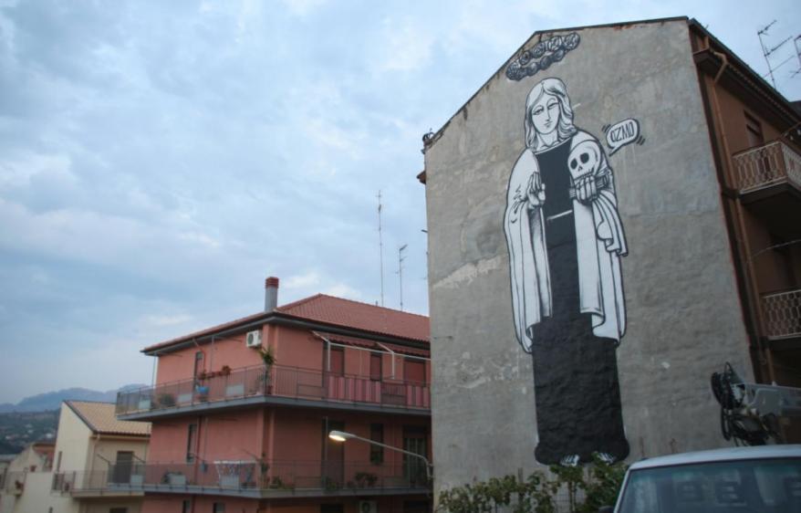 OZMO - Probably, the biggest S.Rosalia in the world, 15 x 8 m, Campofelice di Roccella, Palermo,