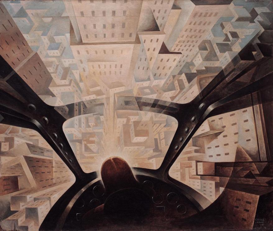 Tullio Crali INCUNEANDOSI NELL'ABITATO, 1938 Ca.