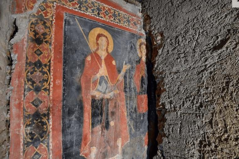 Affresco nella chiesa di Sant'Alessio