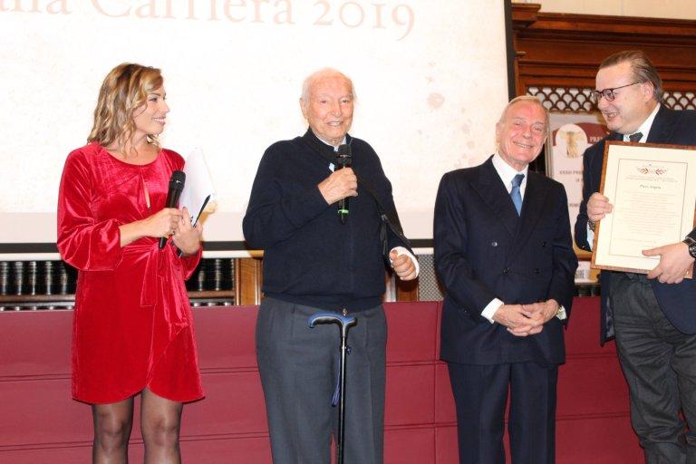 Al centro Piero Angela e Gianni Letta