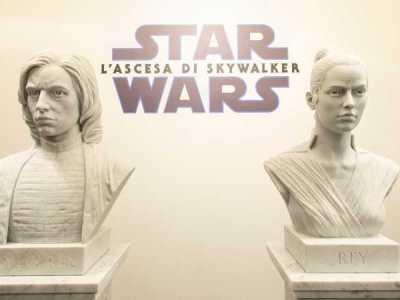 Star Wars Heroes, Rey e Kylo Ren in marmo di Carrara in mostra a Roma