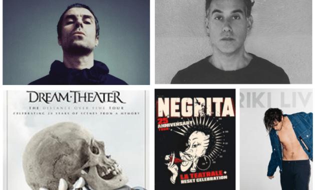 Joshua Radin, Liam Gallagher, Dream Theater, Riki e Negrita