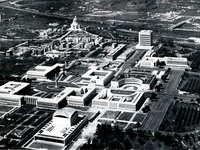 Il quartiere Eur nel 1956