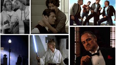 Il Padrino, Frankestein Junior, L'esorcista, Star Wars, Una giornata particolare e Grease