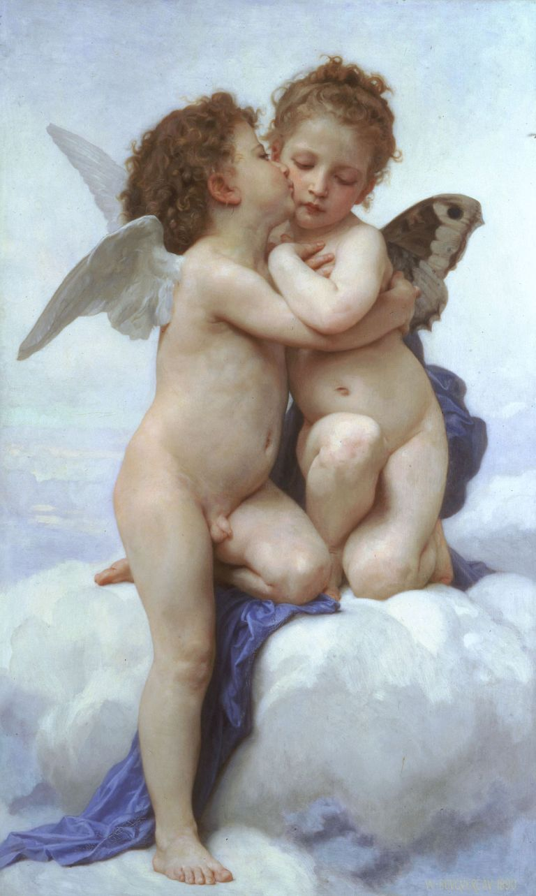 Cupid and Psyche as Children by William-Adolphe Bouguereau