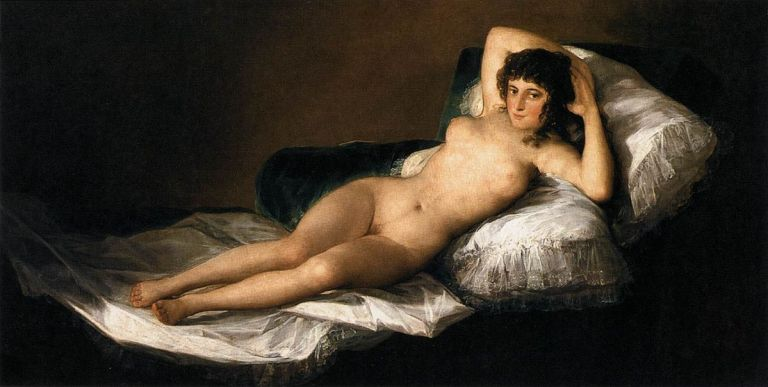 Nude Maja by Francisco De Goya y Lucientes