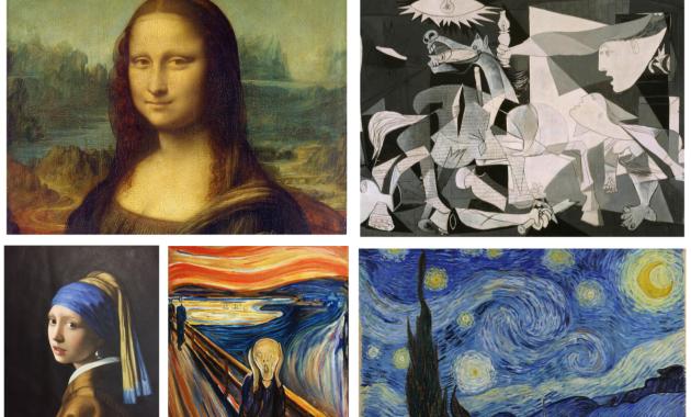 Gioconda, Guernica, Urlo, Notte stellata