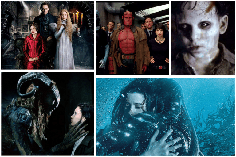 Cinque  film da non perdere dalla mente del regista messicano dell'incubo Guillermo del Toro: La forma dell'acqua, La spina del diavolo, Il labirinto del fauno, Crimson Peak, Hellboy