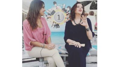 Francesca Di Giampietro, direttore di ArtCloud, e Stefania Sandrelli