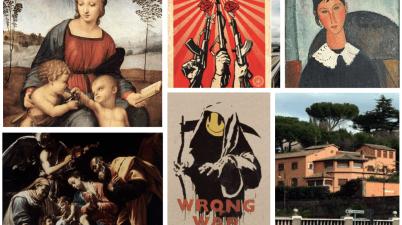 Da Raffaello a Banksy, passando per Modigliani, Alberto Sordi e Shepard Fairey