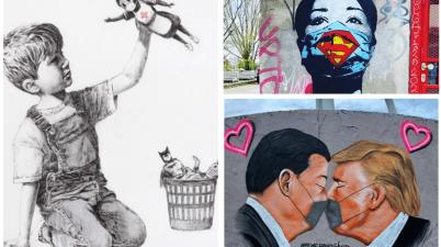 """Banksy, John D'oh's, Aira Ocrespo, Jesus Cruz Artiles, Fake e gli altri: ecco gli otto """"murales"""" più belli di questo periodo così brutto"""
