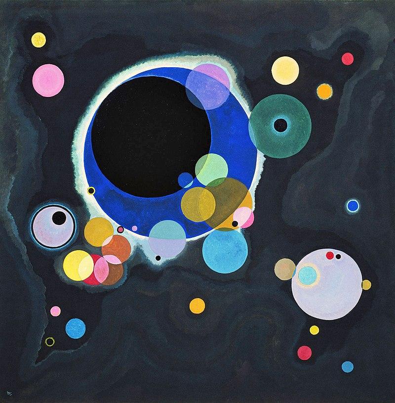 Il pittore Vasilij Kandinskij, nel 1923, dipinse a olio su tela, Composizione VIII