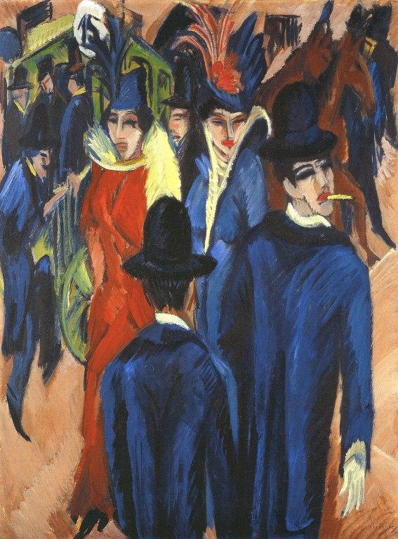 Scena di strada berlinese di Ernst Ludwig Kirchner