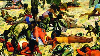 La spiaggia è un dipinto ad olio su tela di Renato Guttuso, eseguito tra il 1955 e il 1956