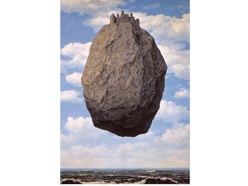 Il castello dei Pirenei è un olio su tela di René Magritte del 1959