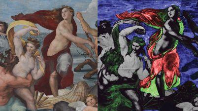 Raffaello a Villa Farnesina, la scoperta del blu egizio e gli affreschi in mostra