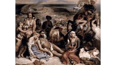 Il dipinto del 1824: Il massacro di Scio di Eugène Delacroix e il riferimento storico a Chio