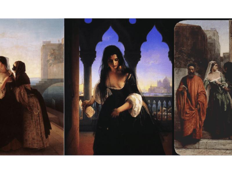 Il dipinto del 1851: Il Trittico della vendetta di Francesco Hayez