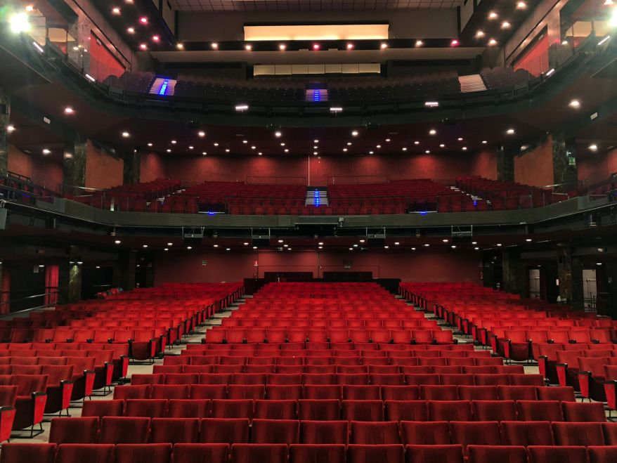 Teatro Brancaccio, sala vuota, Massimo Romeo Piparo