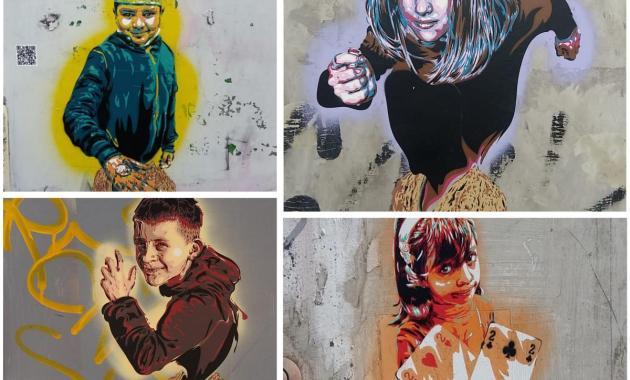 """Torna a Roma il tempo delle noci: laboratori, mappe e gli stencil dello street artist David """"Diavù"""" Vecchiato"""