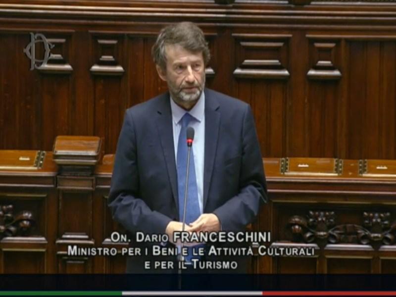 Dario Franceschini, Beni culturali, Camera