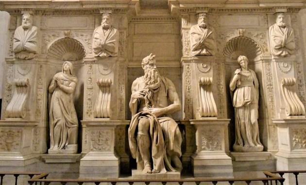 San Pietro in Vincoli, la tomba di Giulio II e il Mosè di Michelangelo