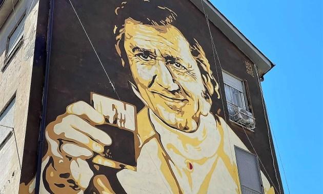 Garbatella, la street art di Lucamaleonte omaggia Alberto Sordi