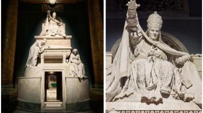 Monumento funerario di Clemente XIV di Antonio Canova
