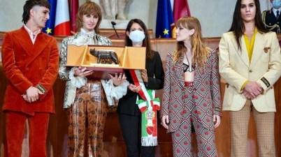"""La Lupa Capitolina ai Måneskin, vincitori dell'Eurovision Song Contest 2021: """"Rappresentare Roma nel mondo è una grande responsabilità"""""""