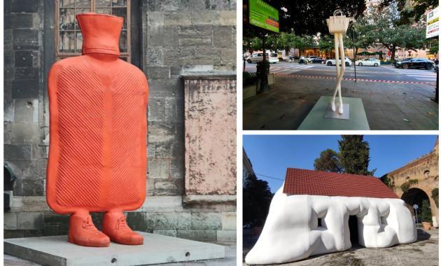"""""""Via Veneto contemporanea"""", l'arte di Erwin Wurm invade la strada della Dolce Vita"""