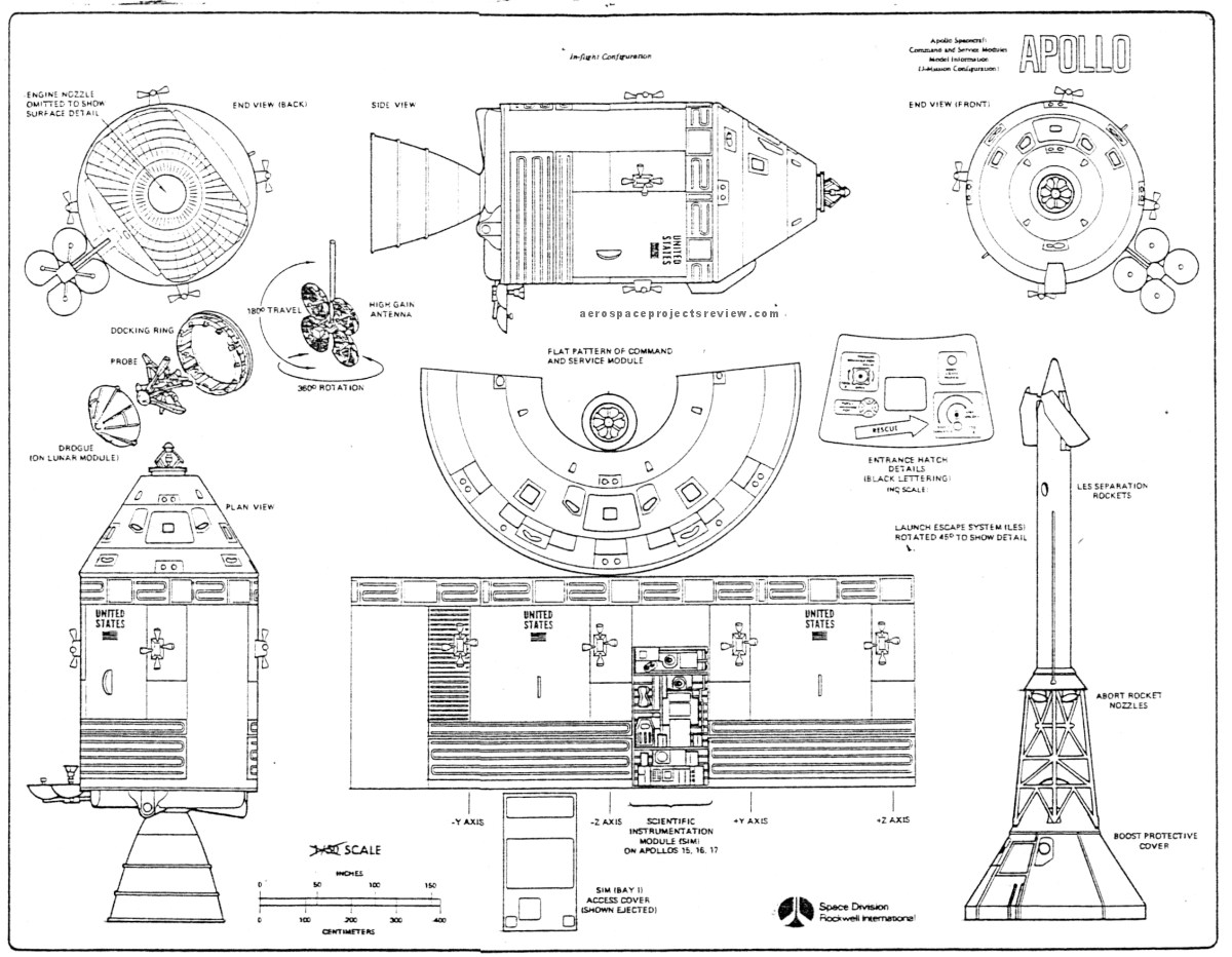 Apollo Spacecraft Service Module Diagram Page 3