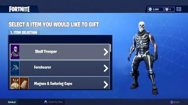 Fortnite Gift Skins Update Siphosjamaica