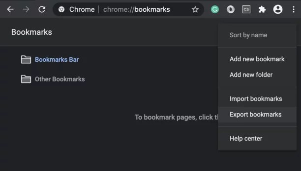 How to Export and Import Bookmarks from Chrome
