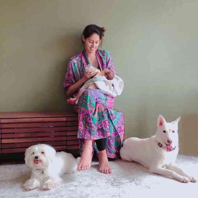 第1子出産の森泉、愛娘との2ショット初披露