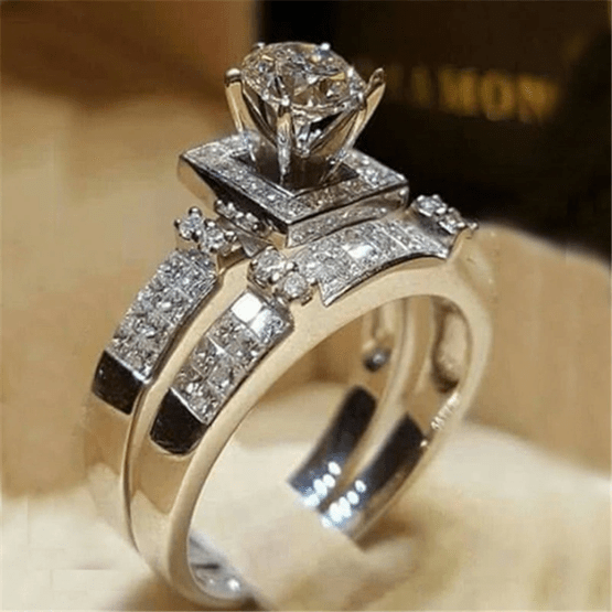 خاتم زفاف من الألماس دبلة الماس خاتم الماس ناعم خواتم الماس 2020