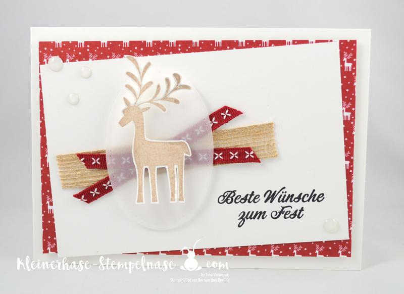 Stampin Up Bernau Berlin Weihnachten Voller Vorfreude Unterm Mistelzweig Stickmuster Big Shot 4
