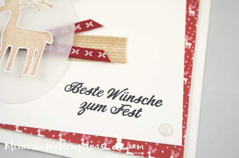 Stampin Up Bernau Berlin Weihnachten Voller Vorfreude Unterm Mistelzweig Stickmuster Big Shot 2